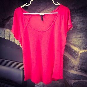 Cynthia Rowley Fuchsia Pink Sheer T-Shirt